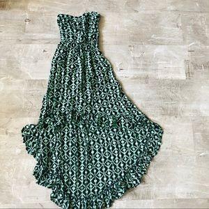 Strapless Hi-Low dress